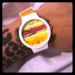 Woman's Geneva colorful watch